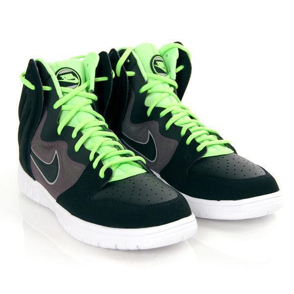 Men's Nike Dunk Free Basketball Baskets Noir/Lime Couleur Taille UK 11-BNWB