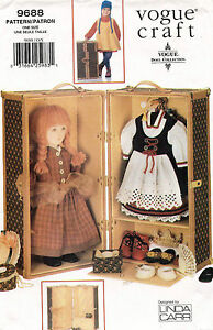 """VOGUE Travel Trunk for 18"""" Doll Linda Carr Craft Pattern 9688 UNCUT"""