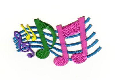 Applikation Aufnäher Patch Flicken pink Musiknote Note Musik