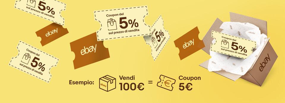Accetta la promo - Ricevi il 5% delle vendite in coupon