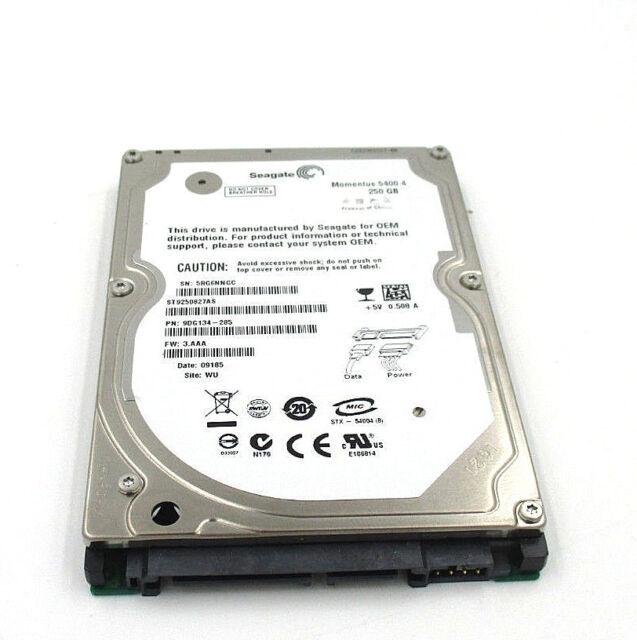 ST9250827AS, 5RG, WU, PN 9DG134-285, FW 3.CTC, Seagate 250GB SATA 2.5 Hard Drive