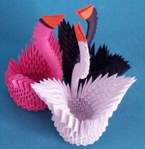 Magnificient Origami 3D Swan | Origami cygne, Boite en carton, Origami | 300x292
