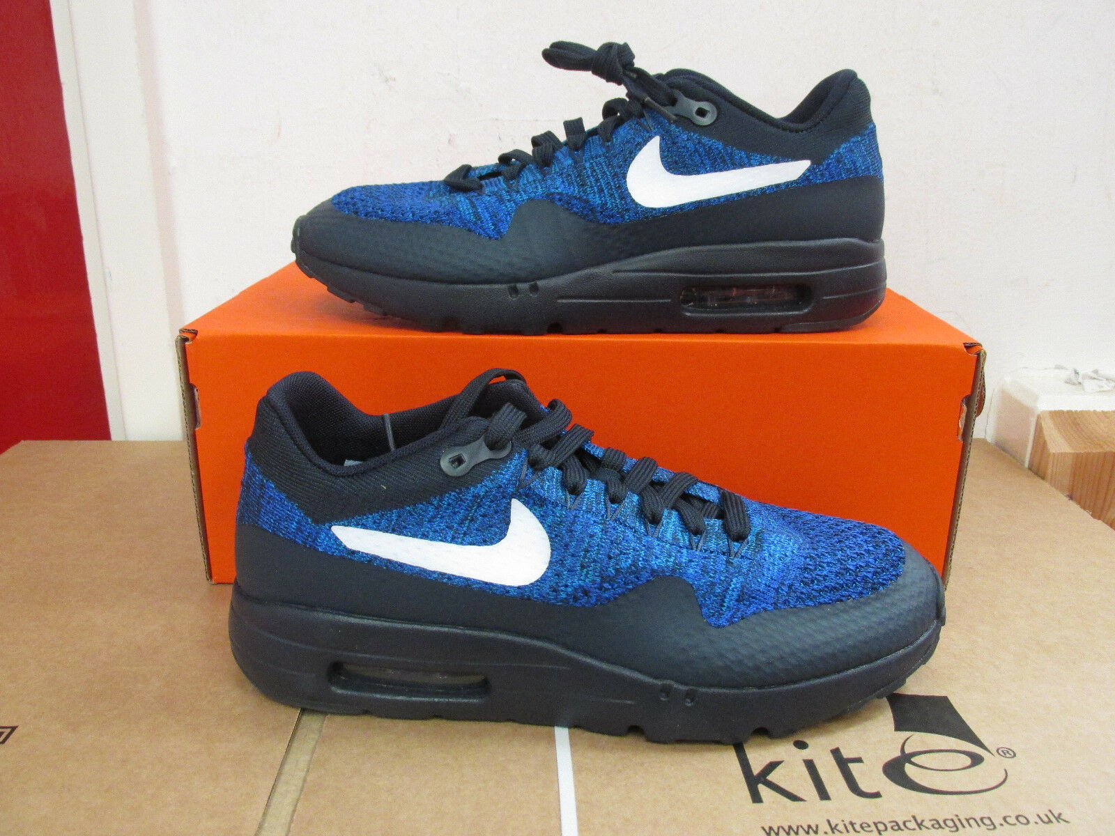 Nike Air Max 1 Ultra Flyknit Hommes Running Trainers 843384 401 Baskets CLEARANCE