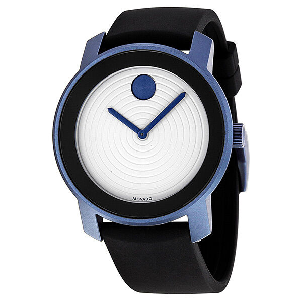 Movado Bold White Dial Blue-Grey Aluminum Unisex Watch 3600168