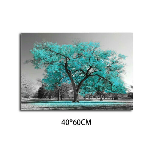 Large Teal Tree Canvas Print Painting Art Picture Wall Home Decor Unframed