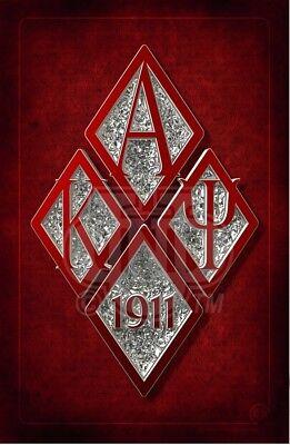 """KAPPA ALPHA PSI Fraternity Shield 11/"""" x17/"""" Art Print"""