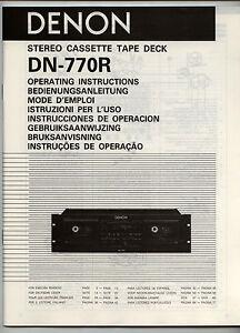 DENON-DN-770R-INSTRUCCIONES-DE-OPERACION-ORIGINAL-BOOK