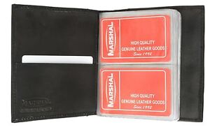 Black-Bifold-80-Business-Card-Genuuine-Leather-Credit-ID-Organizer-Holder-Nice