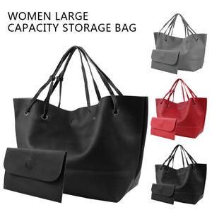 fe8fe27fd5 Image is loading 2Pc-Women-Bags-Purse-Shoulder-Handbag-Tote-Messenger-