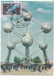 MXC51-1958-Brussels-Belgium-Atomium-maximum-card