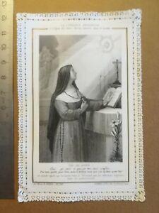 Canivet-dentelle-Holy-Card-image-pieuse-La-confiance-religieuse-Ch-Letaille
