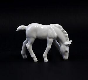 9942784-Porcelain-Figurine-Horse-Foal-Grazing-White-Wagner-amp-Apel-11x8cm