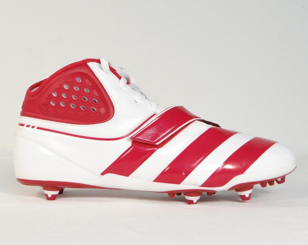 Adidas malicia D Rojo & Blanco Botines de Hombre fútbol Desmontable Botines Para Hombre de Nuevo Con Etiquetas 8e74a6