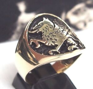 GRIFFIN-GRIFFON-LION-EAGLE-RING-Wealth-Amulet-Egypt-Persia-Greece-DIVINE-POWER