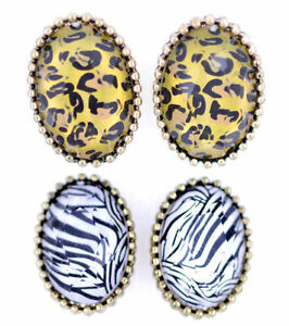 Vintage-retro-style-leopard-zebra-animal-print-stud-earrings-multiple-choices