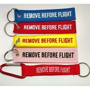 Remove-Before-Flight-Keychain-Keyring-Tag-Aviation-Holiday-Suitcase-Travel-Bag