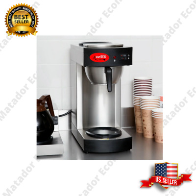 New Avantco Commercial Coffee Maker Machine 3 Pot Warmer Pourover 12 Cup Brewer