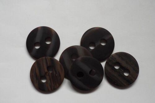 8pc 32mm faux marron effet bois manteau veste cardigan enfants tricot bouton 0662