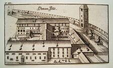 Zürich Obman Amt Barfüsser  Schweiz Bluntschli  echter alter Kupferstich 1742 n1
