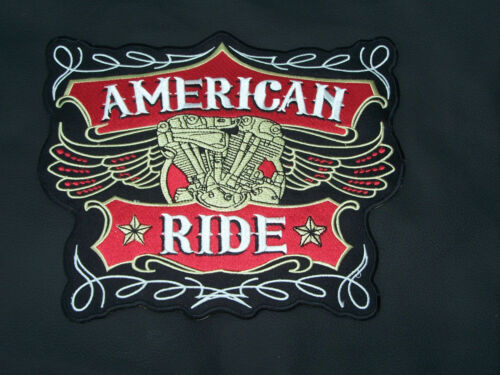 American Ride Patches Back patch for Motorcycle Biker Vest Jacket Red Large New