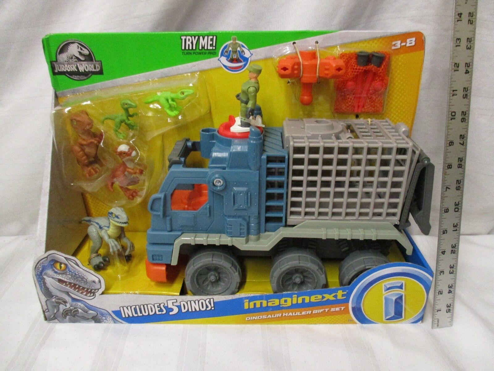 Fisher price Imaginect Jurassic värld Dinosaur Hauler NY Dino cage set