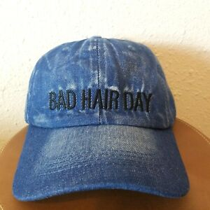 Rue 21 Womens Bad Hair Day Blue Jean Casual 100% Cotton Cap Hat One ... ba0c97a33ac