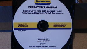 NEW-HOLLAND-BOOMER-3040-3050-TRACTOR-OPERATORS-MANUAL-ON-CD-CD26