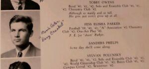 Fess-Parker-Senior-High-School-Yearbook-1942-Disney-Davy-Crockett-Daniel-Boone