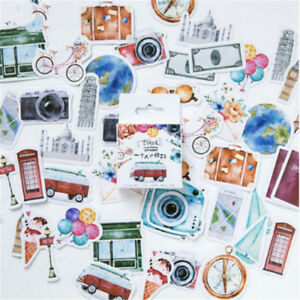 Lovely-46-Pcs-Box-A-Person-039-s-Travel-Paper-Stickers-Diary-Decor-DIY-Scrapbooking