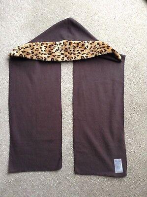 Donna Pelliccia Cappuccio Morbido/sciarpa Taglia Unica Marrone Animale Design By Jd Williams-