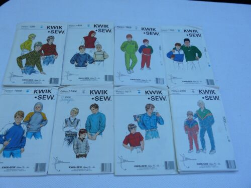 Kwik Sew  Boys/' Shirts tops jackets pants size  4 5 6 7  Sewing  Pattern U-Pick
