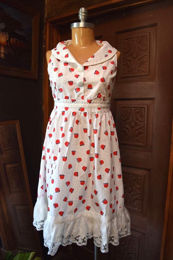 NWT Asian Foreign Womens Sleeveless White Lace Trim Sheath A-line Dress LARGE