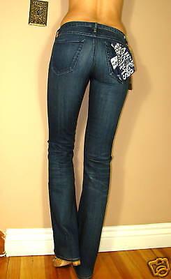 $158 Earnest Sewn Keaton Snellente Morbido Donna Svasati Stella Scuro Jeans 24 Rafforzare La Vita E I Sinews