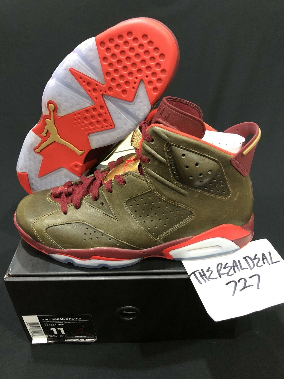 AIR JORDAN 6 RETRO  CIGAR  - ITEM NUMBER 1532-11 - STYLE 384664 250
