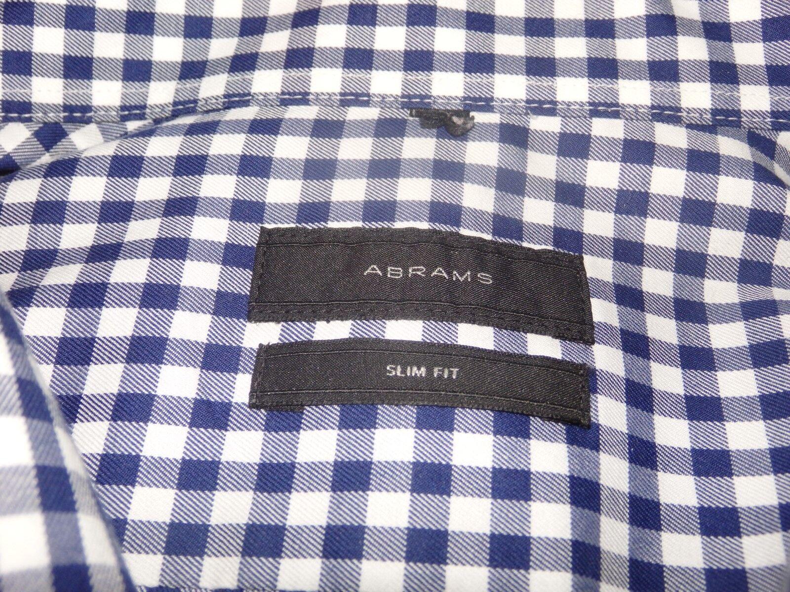 Businesshemd Abrams 43 44 Slim fit blau weiss kariert    Modern Und Elegant In Der Mode