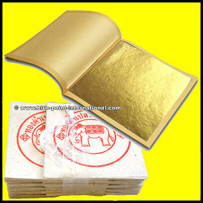 100 Gold Leaf Leaves Sheets - 999/1000 purety - 24 Carats - PURE GOLD - EDIBLE