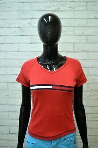 Maglia-Donna-TOMMY-HILFIGER-Taglia-XS-Polo-Manica-Corta-Shirt-Woman-Jersey-Frau
