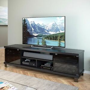 tv stand for flat screens credenza entertainment center cabinet 80 inch console ebay. Black Bedroom Furniture Sets. Home Design Ideas