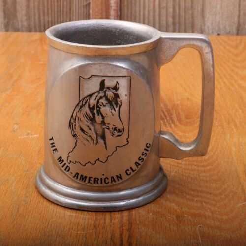 The MidAmerican Classic Horse Show Indiana Tankard Mug Pewter
