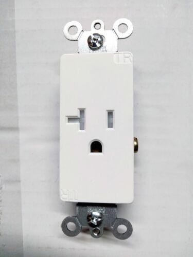 1 pc Single Decorator Receptacle 20A-125V White TR Tamper Resistant 20 Amp