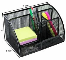 Mesh Office Supplies Desk Organizer Caddy 6 Compartments For Office