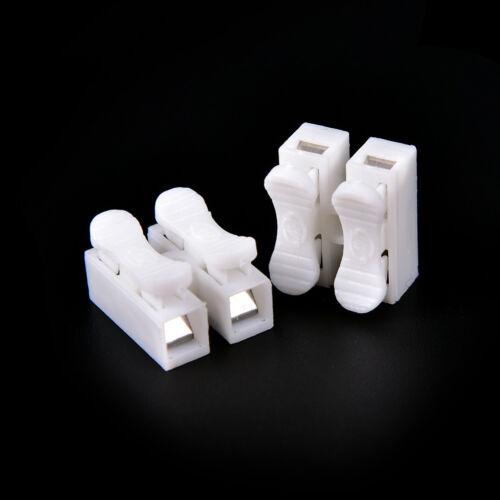 30 Pcs Self Locking mini 2Pin Cable Connectors Quick Splice Lock Wire TerminalH/&