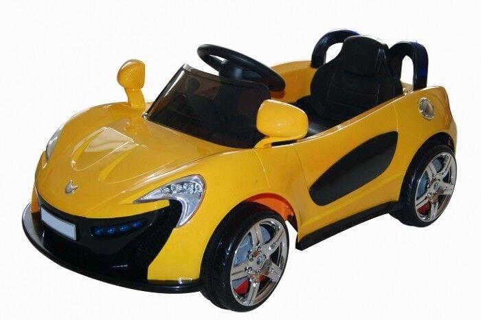 Elektrokinderauto Sportwagen Cabrio Gelb HL118