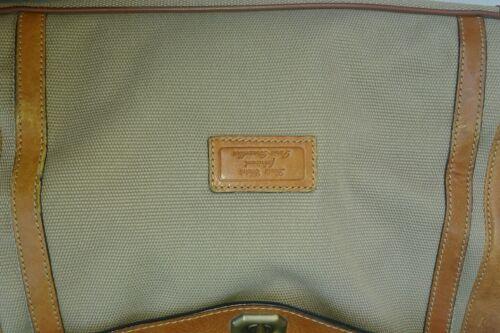 Louis Cognac Vintage Sac Marque Chéné Kaki Fermeture Grand Cuir Acodeon Rare A6qt1