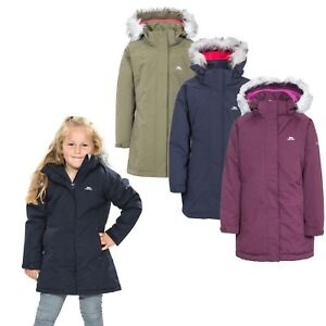 285e8ea1d Image is loading Trespass-Fame-Girls-Waterproof-Parka-Jacket -Padded-Windproof-