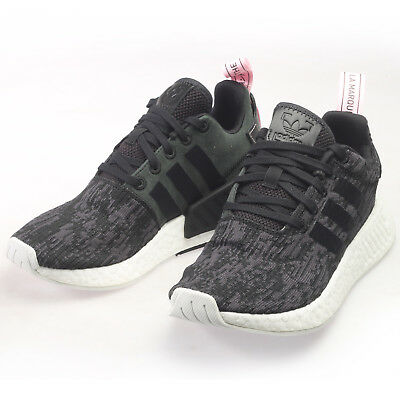 huge discount cead2 44d07 Adidas Originals NMD R2 Womens BY9314 Black Wonder Pink Running Shoes Size  8 | eBay
