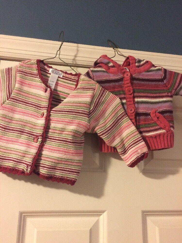 BABY GAP & amp;CARTERS Baby Girl 3-6M Posten von 2 bunten Pullovern / Jacken