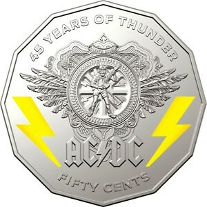 2018-50-CENT-AC-DC-CARDED-COLOURED-Cu-Ni-45-YEARS-OF-THUNDER-LIMITED-EDITION