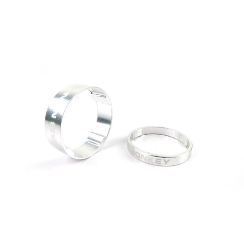 "Circus Monkey Alloy Bike Cycling 1-1//8/"" Stem Headset Spacer 5mm 10mm Silver"