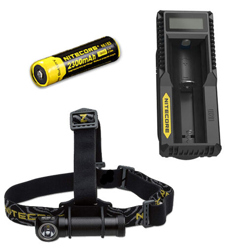 Nitecore HC30W XM-L2 LED Headlamp 1000Lm w  UM10 Charger & NL183 18650 Battery